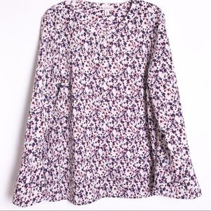 Eliane Rose Floral Popover Bell Sleeve Blouse XL